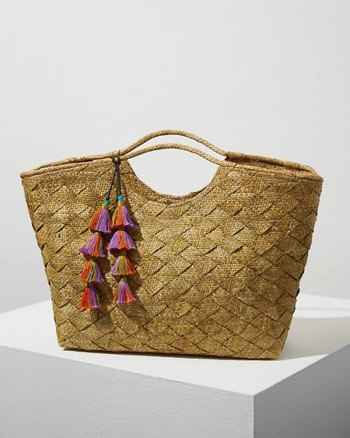Woven Arianna Large Tote