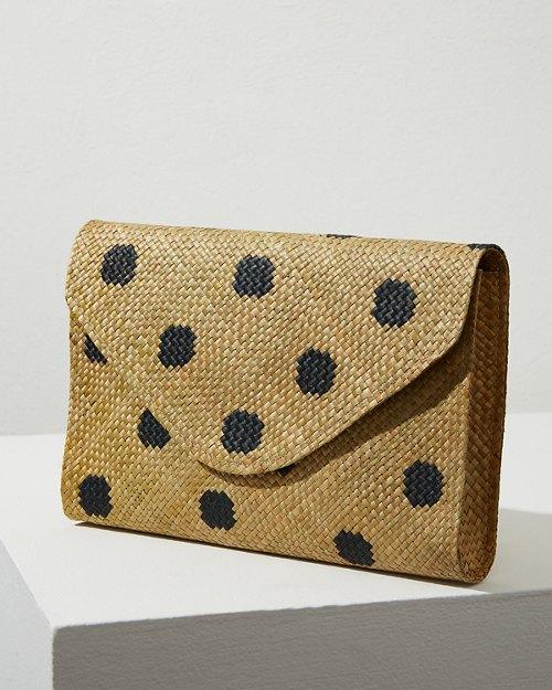 Polka Dot Envelope Clutch