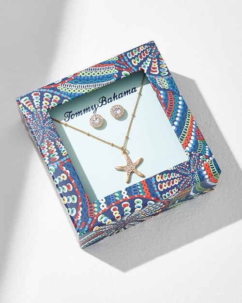 Starfish Necklace & Earring Gift Set